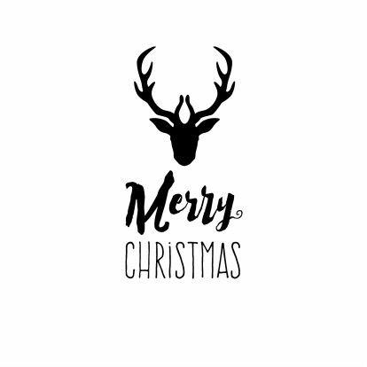 Kerst rendier zwart wit merry christmas design kaartje2go te vinden op - Te vangen zwart wit ontwerp ...