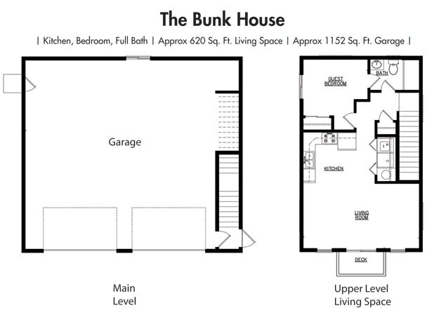 House Plans Floor Plan The Bunk Garage Simplicity Homes