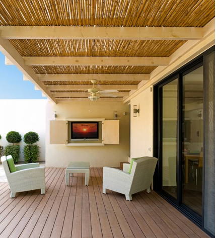 Outside Rooms Ideas outdoor wall covering ideas | ideas for outdoor rooms with bamboo