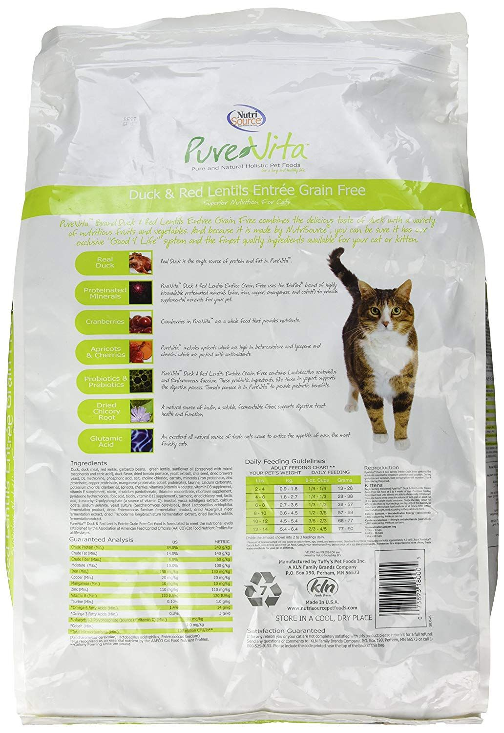 Purevita Grain Free Duck Cat Food 15lb To View Further For This Item Visit The Image Link This Is An Affiliate Link Ca Dry Cat Food Cat Food Grain Free
