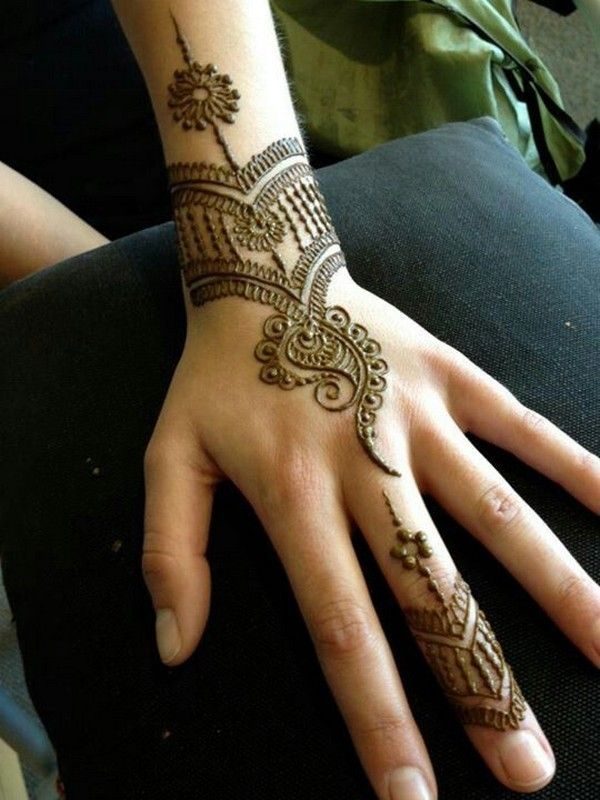 Henna Designs For Women: Simple Back Hand Henna Designs For Women