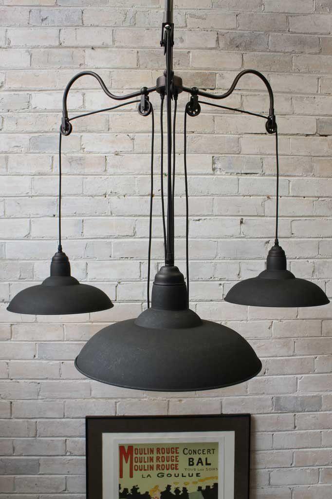 Bullpit industrial chandelier pulley light pulley light industrial chandelier pulley light 13 aloadofball Images