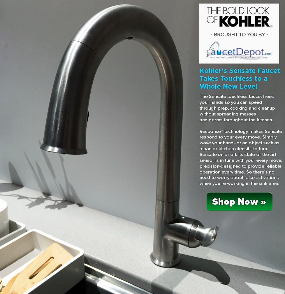 This touchless kitchen faucet gets into action within a few ...