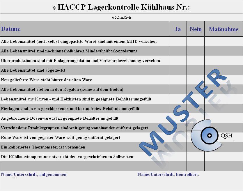Haccp Checklisten Als Pdf Word Zum Download