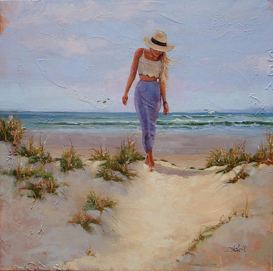 For The Love Of The Sea Painting Print By Laura Lee Zanghetti On Fine Art America