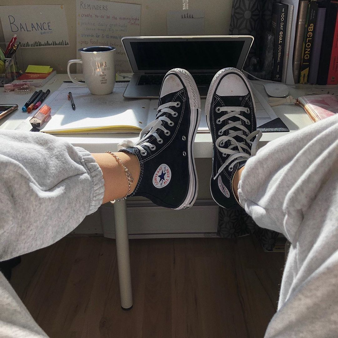 Converse Chuck Taylor All Star Hi Sneaker Black in 2020