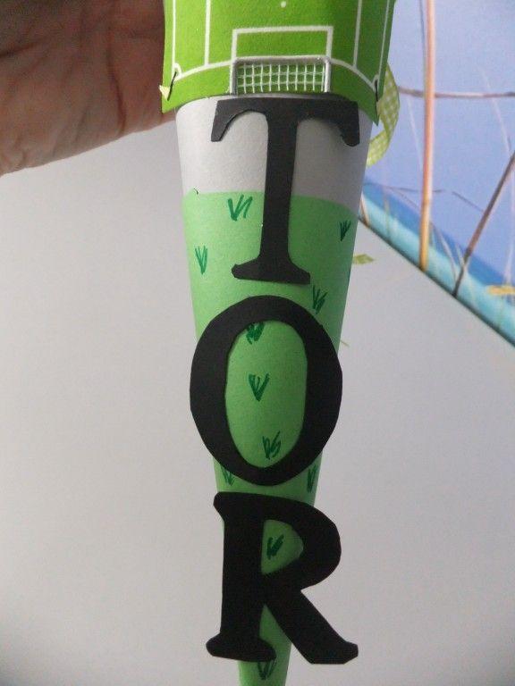 Fussballschultüte mit Buchstaben