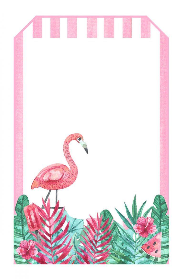 Flamingo Beach Wedding Candy Wrapper Printable Flamingo Tropical Jungle Plants Flowers Style Name: JAYME
