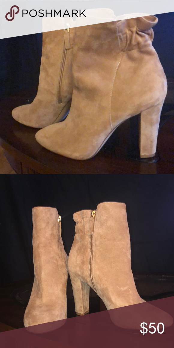 ed946e99f2b WHBM suede ankle boots Suede rose créeme ankle boots White House Black  Market Shoes Ankle Boots   Booties