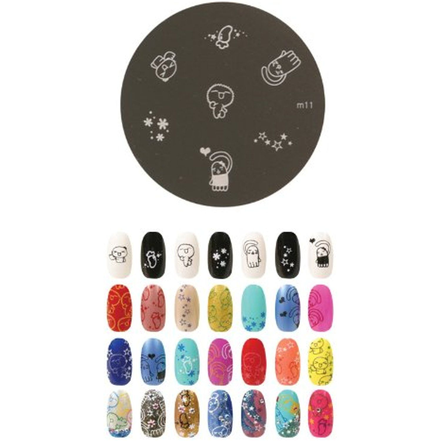 Konad Stamping Nail Art Image Plate M11 Learn More By Visiting