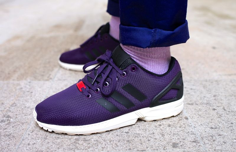 adidas zx flux rose splash violet blanc