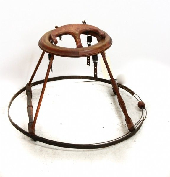Antique Wooden Baby Bouncer Walker