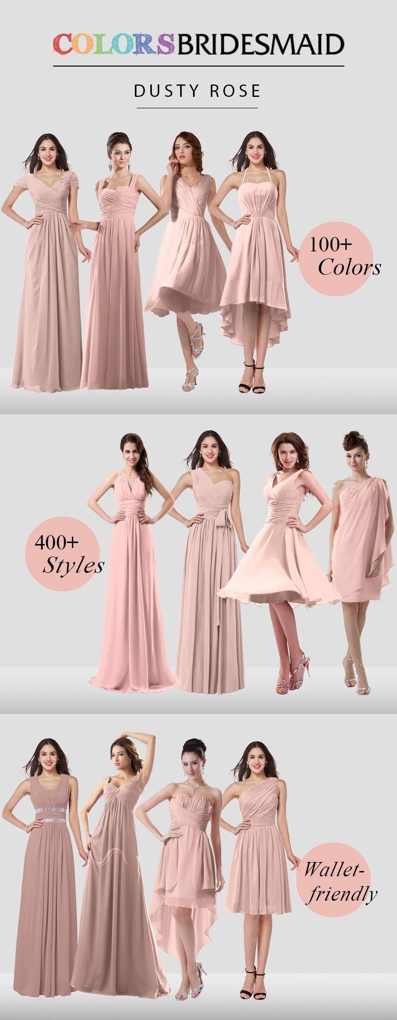 Dusty Rose Bridesmaid Dresses | Pinterest | Damas, Vestidos de dama ...