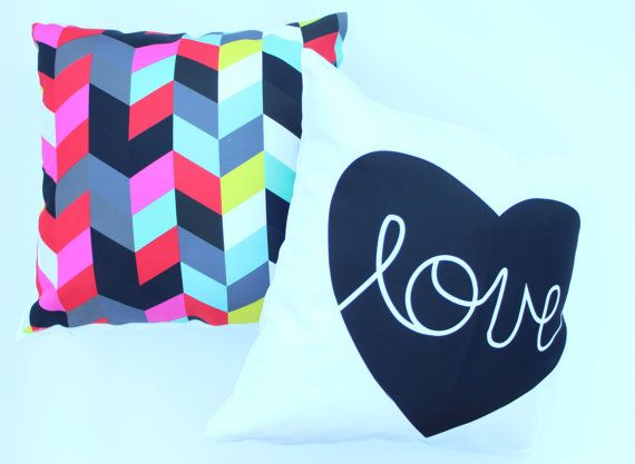 Abstract printed, love cushion cover, pillowcase, pillow cover