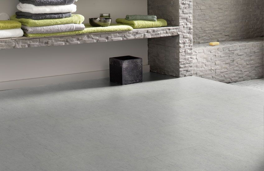 Pvc vloer tegels betonlook. geschikt voor alle ruimten zoals de