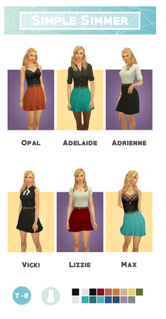 Dress Collection| Clothes | Simple Simmer via Tumblr | Sims