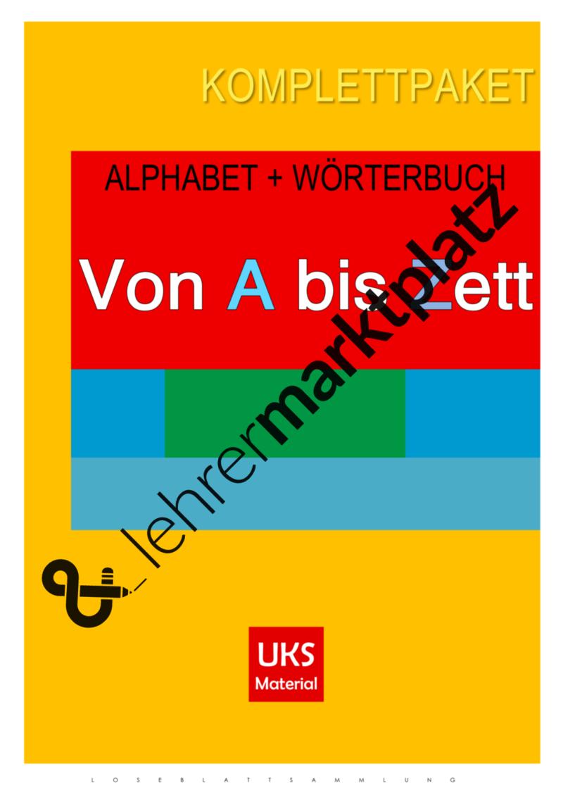 Alphabet Und Wörterbuch Alphabetische Sortierung Und