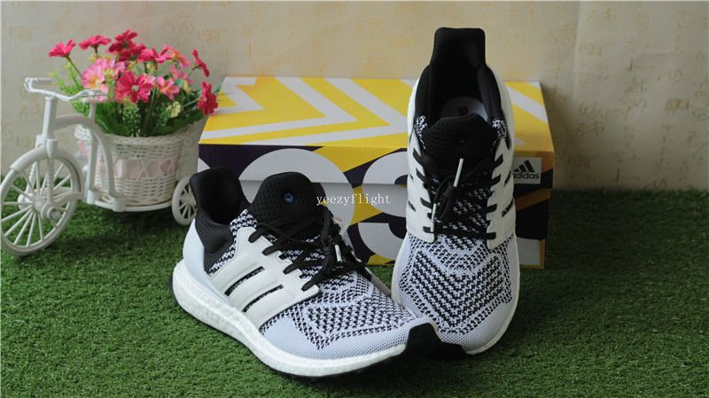 04ba7d5a3241a SNS X Adidas Ultra Boost White Black replica