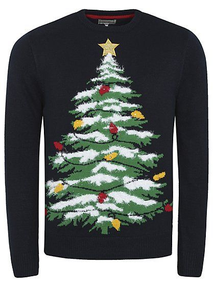 Cute Christmas Jumper - Light Up Christmas Jumper | Men | George at ASDA - Cute Christmas Jumper - Light Up Christmas Jumper Men George At