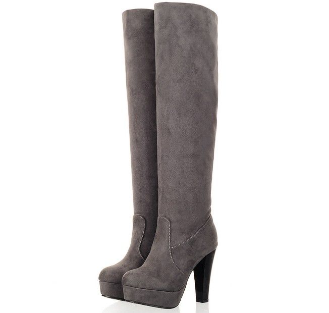 Comfortable boots thick heel suede shoes Z-CHD-D60