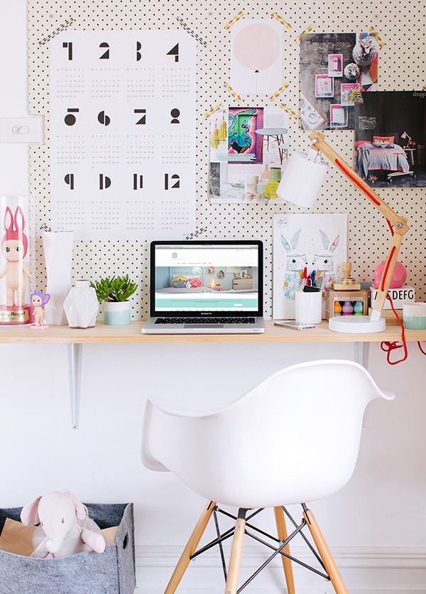 colourful office Hannah Blackmore Photography for adore magazine