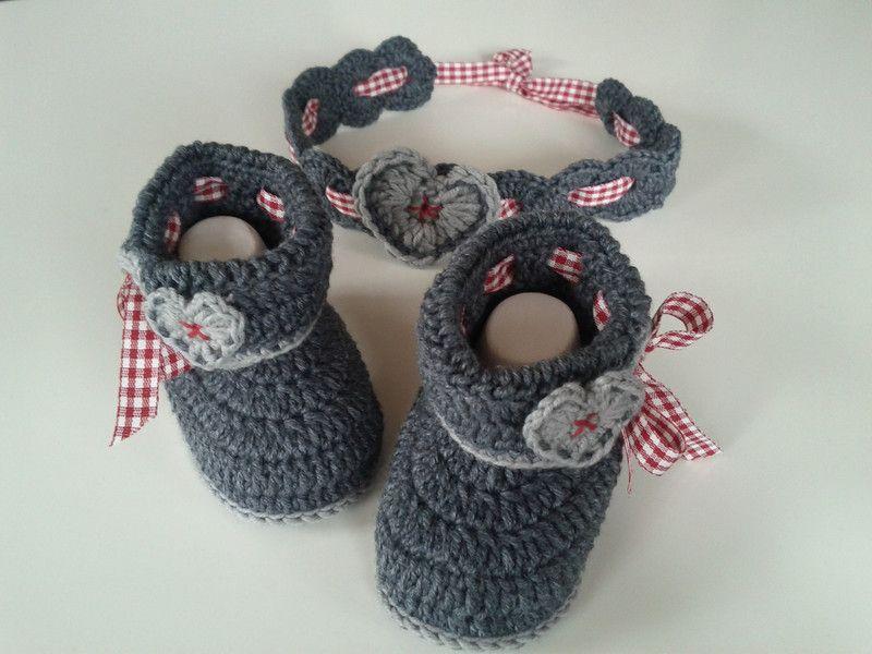 Baby-Set im Trachten-Look | Bazaar crafts, Babies and Crochet