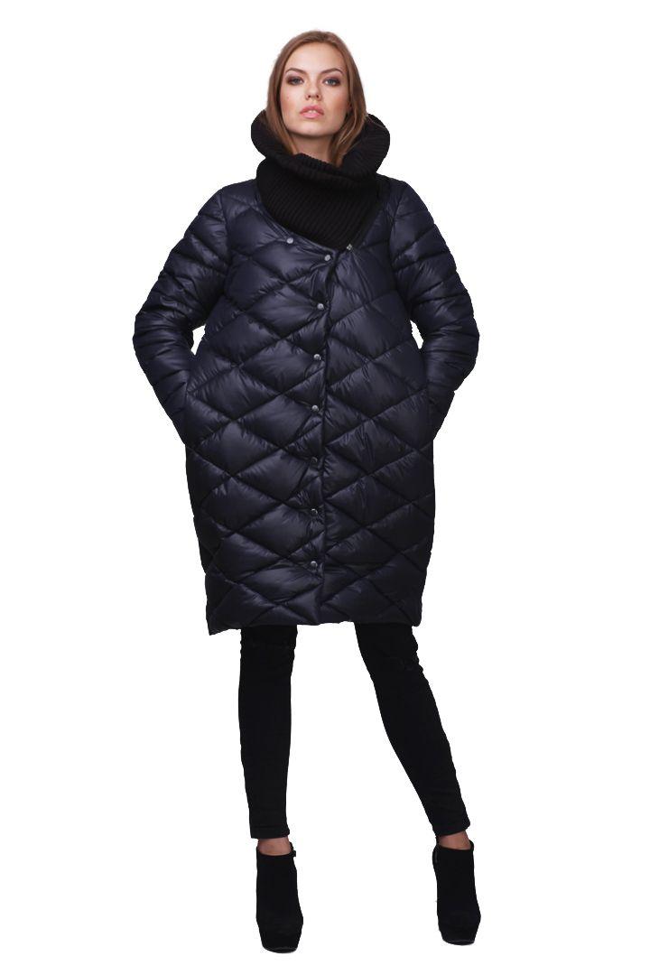 663fcca51246d Купить Синяя куртка пуховик c вязаным воротником LiLo по лучшей цене в  Киеве. Доставка по всем регионам Украины.