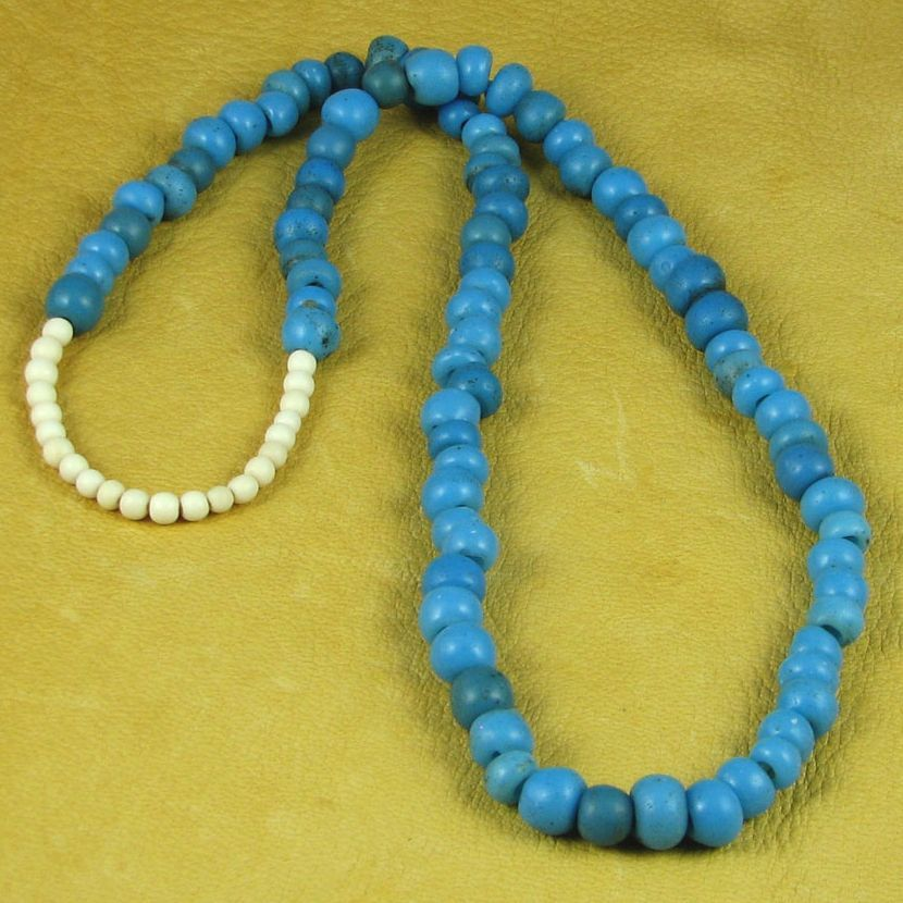 American Indians 403 Bone Bead Necklace Beaded Necklace Trade Beads