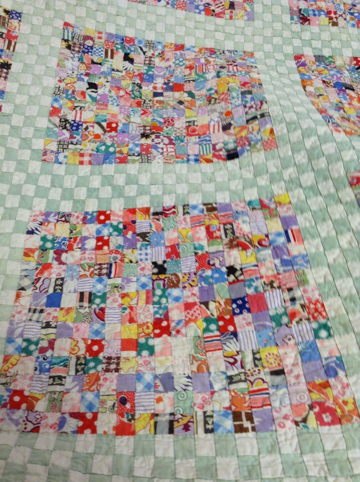 Vintage Postage Stamp Quilt 1 Squares Photo By Norma