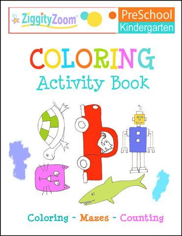coloring activity book for kindergarten pre k workbook 300 fun filled worksheets