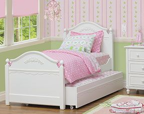 Abbey Bed Cafe Kid Twin Bed Trundle Bed Girly Bedroom Twin Trundle