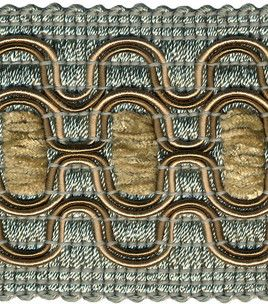 Home Decor Trim-Christopher Lowell 2.25'' Mia Blue/Shitake ...