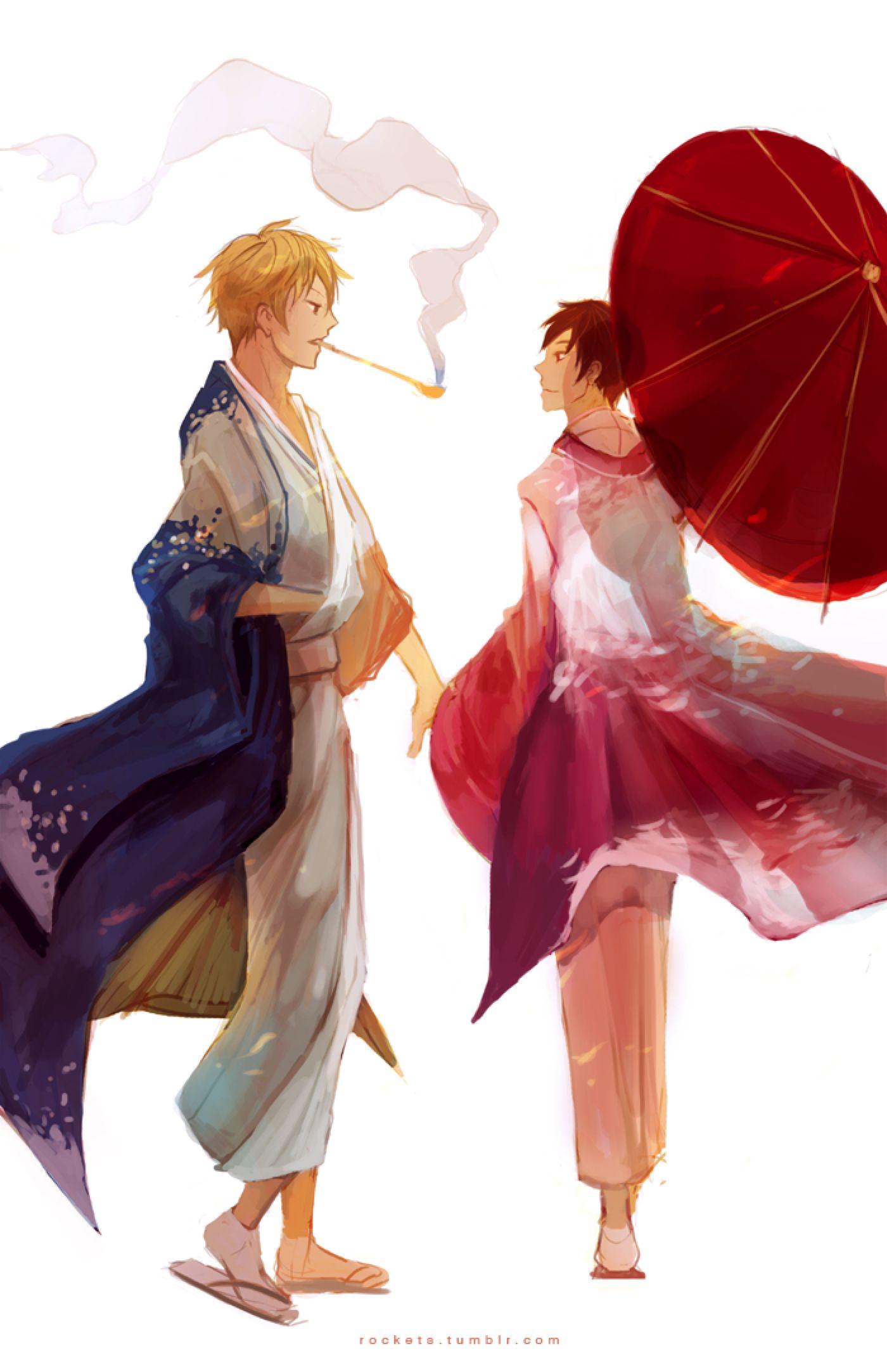 shizaya kimono vers. by hakuku on DeviantArt