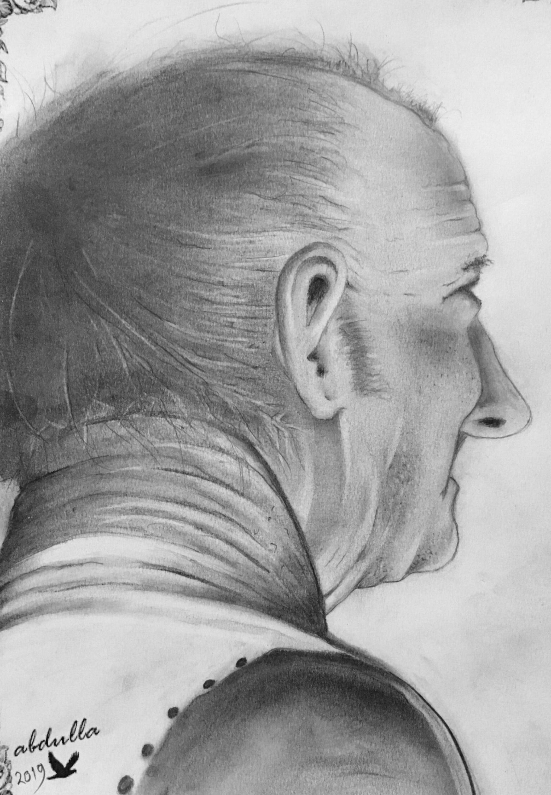 رسم بالرصاص رسم وجه Interesting Faces Drawings Male Sketch
