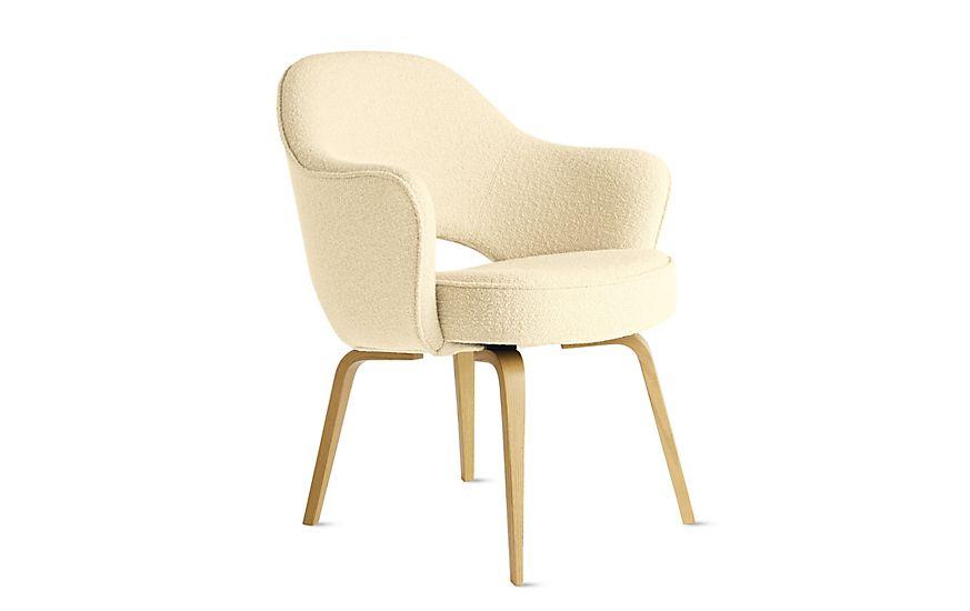 Saarinen Executive Armchair With Wood Legs