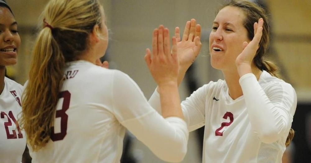 Defense Sparks First Place Women S Volleyball To 3 0 Win Over Cornell Women Volleyball Volleyball News Athletic Center