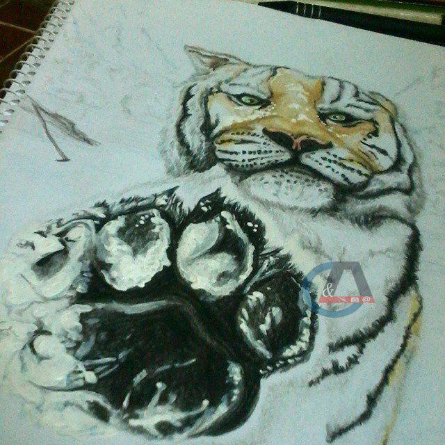 Incluye Dibujo En Hoja De Papel Bond Tamano Carta Dibujo Enmarcado Opcional Precio Adicional 20 00 Animal Tattoo Art Color