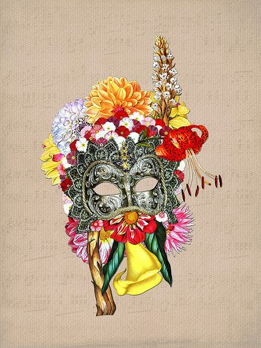 Masked Flora #collage
