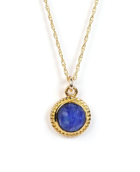 Treisi Gold Vermeil and Semi-Precious Stone Dottie Pendant Necklace