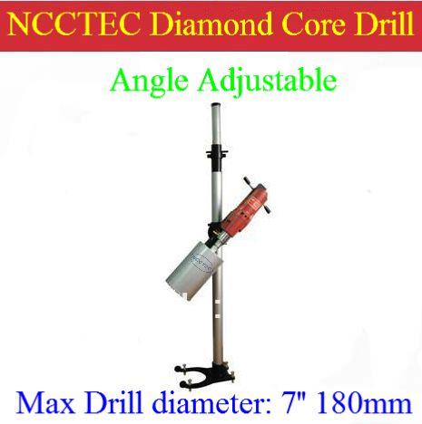 7 180mm Drill Angle Adjustable Diamond Core Drill Machine For Drilling Concrete Floor Or Wall Multi Angle Degree Drill 2100w Concrete Floors Drill Concrete