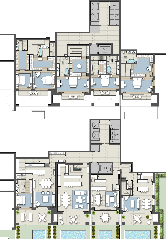 Architectural Designer At Ga Design International Hotel Floor Plan Apartment Floor Plans Hotel Floor
