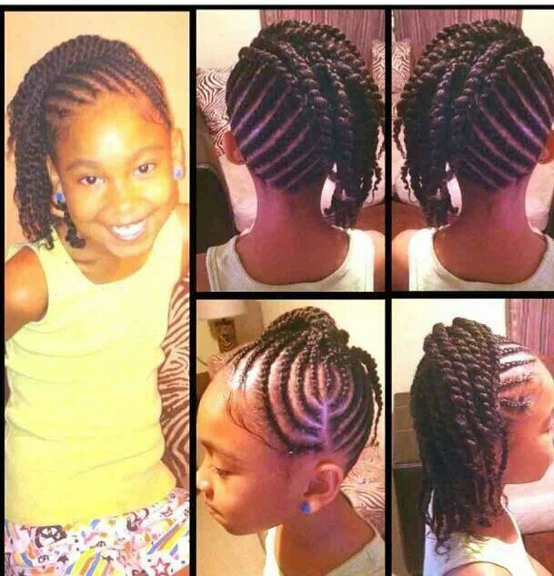 Cute Cornrow Hairstyle With Images Natural Hair Styles Kids