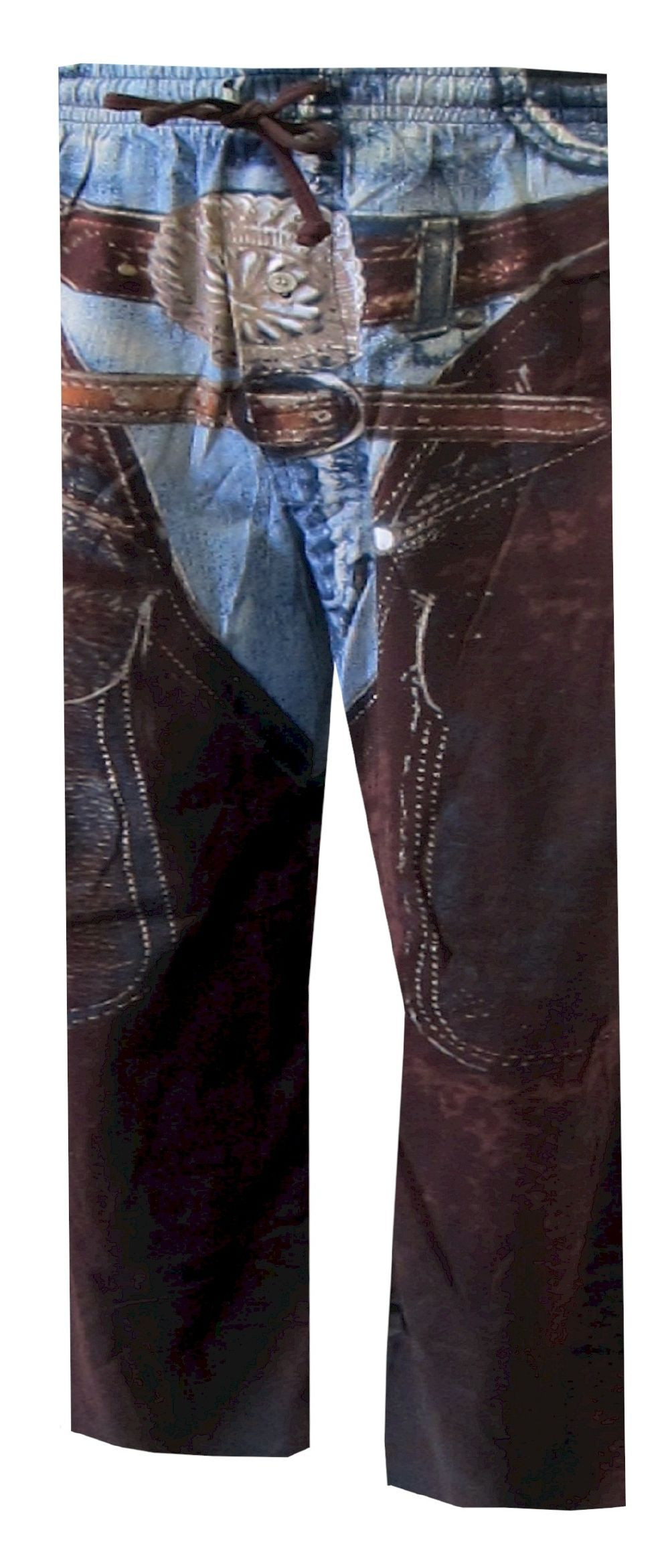 Cowboys Favorite Faux Jeans And Chaps Lounge Pants These