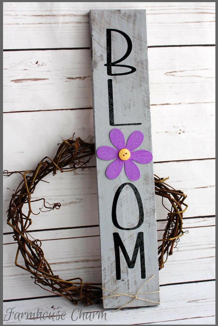 Bloom Wood Sign Spring Wood Sign Spring Decor Easter Decor