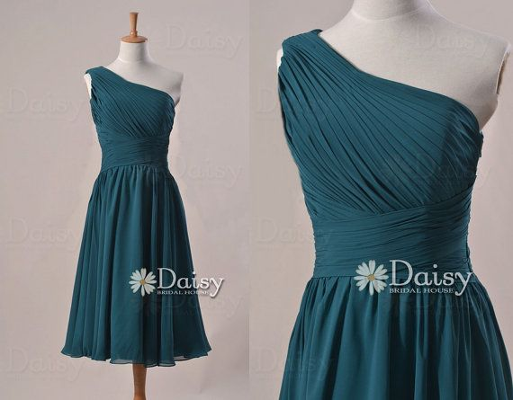 Peacock Teal Bridesmaid Dress,Vintage Emerald Blue Short