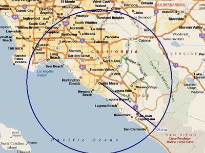Orange California Map Orange County California Map | Service is provided only within