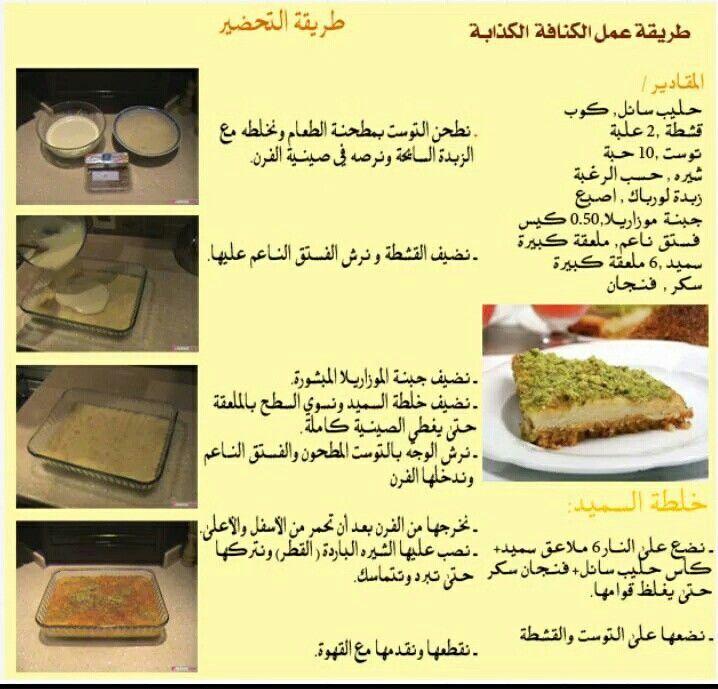 كنافة كذابة Cooking Recipes Cooking Food And Drink