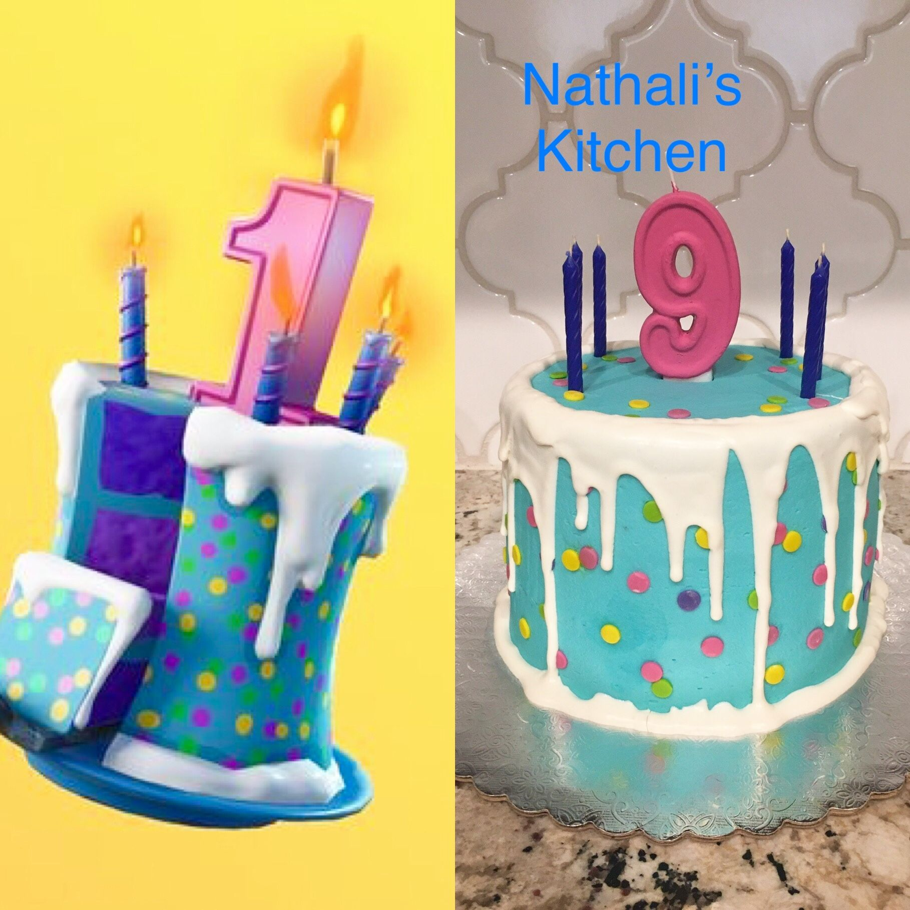 Fortnite cake from the game!! By Nathali's Kitchen Cake