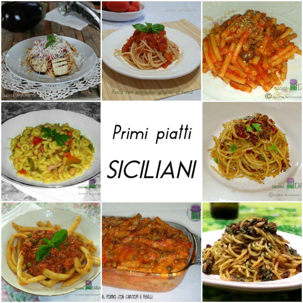 ricette primi piatti siciliani ricette pasti italiani e