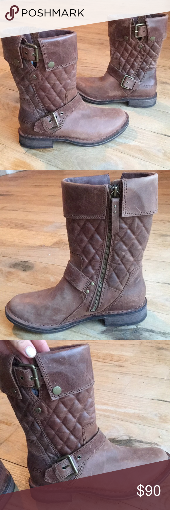 cdbc6e45af9 Ugg Conor Brown Quilted Leather Boot size 6 in 2018 | My Posh Picks ...